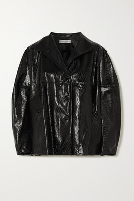 Palmer Harding Rhesus Oversized Snake-effect Faux Leather Jacket - Black
