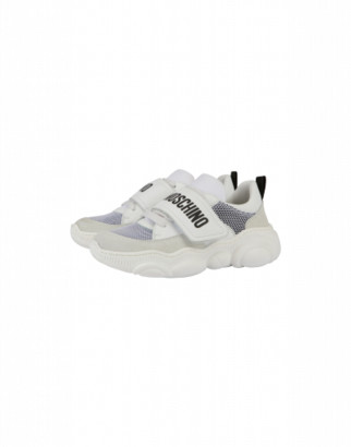 Moschino Mesh Sneakers Teddy Shoes With Logo Unisex White Size 28 It - (10.5k Us)