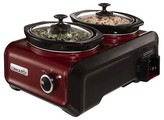 Crock Pot Crock-Pot®; Hook Up®; Connectable Entertaining System, Two 1-Quart, Metallic Red, SCCPMD1-R