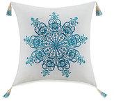 Jessica Simpson Aquarius Tasseled Medallion-Embroidered Pillow