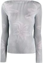 Giorgio Armani fine knit ribbed top