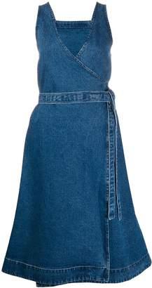 YMC tie-waist denim dress
