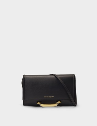 Alexander McQueen The Small Story Crossbody in Black and Red Leather
