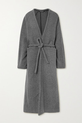 Kassl Editions Belted Wool-blend Coat - Gray