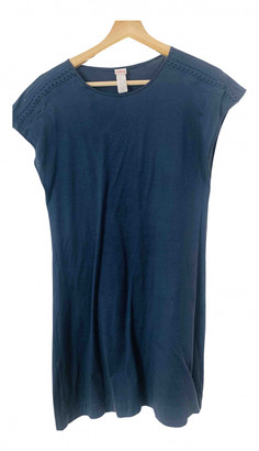 Eres Navy Cotton Dresses