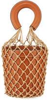 Staud Leather and Net Moreau Bucket Bag