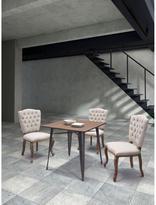 ZUO Eddy Linen Chair in Beige (Set of 2)