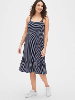 Gap Maternity Ruffle-Hem Apron Dress