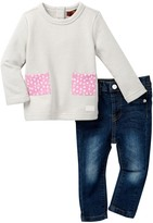 7 For All Mankind Pullover & Jean 2-Piece Set (Baby Girls)