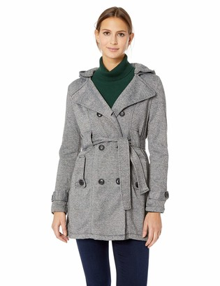 Yoki Women's Double Breast Long Fleece Jacket Outerwear