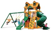 Gorilla Playsets Malibu Extreme Clubhouse Swing Set with Timber Shield