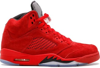 Jordan Air 5 Retro red suede