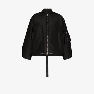Carcel Queens silk bomber jacket