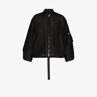 Carcel Queens silk bomber jacket