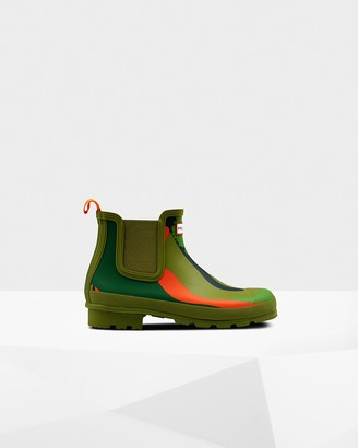 Hunter Men's Original Rockpool Camo Chelsea Boots