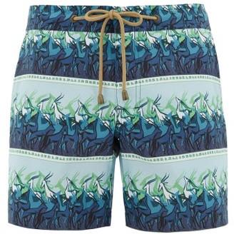 Thorsun Antelope-print Titan-fit Swimshorts - Mens - Blue