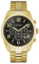 Caravelle New York Analog Notched Goldtone Bracelet Watch