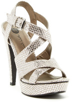 Michael Antonio Randy Metallic Snake Embossed Platform Sandal