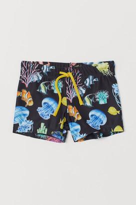 H&M Printed Swim Trunks