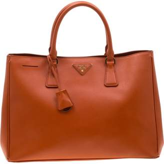 Prada saffiano Orange Leather Handbags