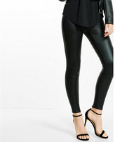 Express crackle zip back legging