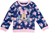 Freeze Minnie Mouse Floral Crewneck Sweatshirt - Infant & Girls