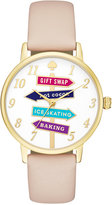 Kate Spade Women's Metro Vachetta Leather Strap Watch 34mm KSW1215