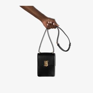 Burberry Black Valencia leather cross body bag