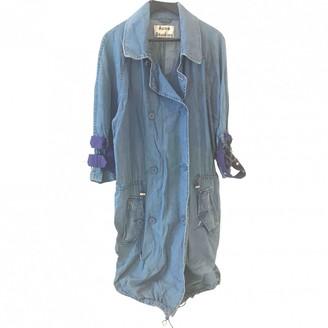 Acne Studios Blue Cotton Trench Coat for Women