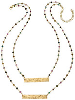 Heather Hawkins Barred Gemstone Necklace