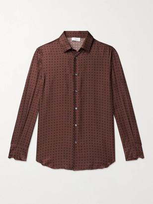 Brioni Printed Silk-Twill Shirt