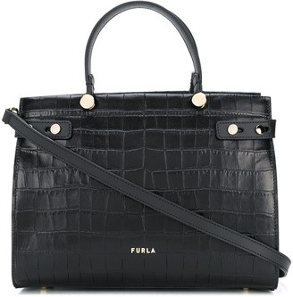 Furla Lady M crocodile-embossed tote bag