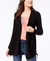 Style&Co. Style & Co Lace-Up Cardigan, Created for Macy's