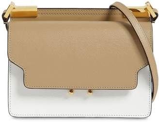 Marni Slim Trunk Saffiano Leather Shoulder Bag