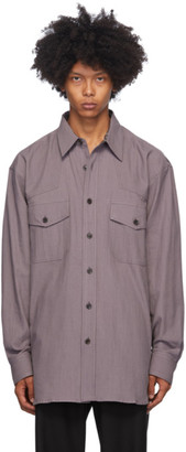 Dries Van Noten Purple Cotton Shirt