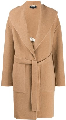 Rochas Belted Mid-Length Coat