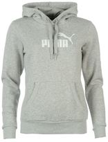 Puma Womens Ladies No1 Logo Hoody Hoodie Hooded Long Sleeve Top Clothing