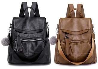 Kadell Women Girls Leather Anti-theft School Backpack Travel Handbag Shoulder Bags Tote