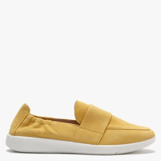 Legero Lucca Yellow Suede Chunky Sole Loafers