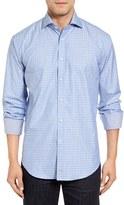 Thomas Dean Men's Classic Fit Jacquard Sport Shirt