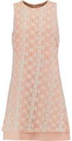 Iris and Ink Georgia Crocheted Lace Mini Dress