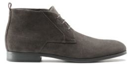 HUGO BOSS Lace-up desert boots in suede