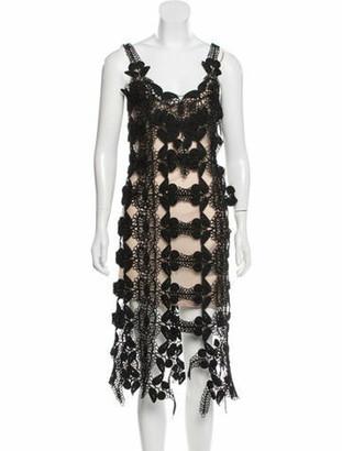 Christopher Kane Guipure Lace Mini Dress w/ Tags Black