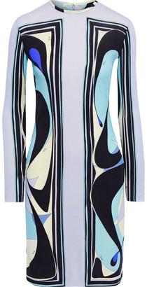 Emilio Pucci Printed Wool-blend Jersey Mini Dress