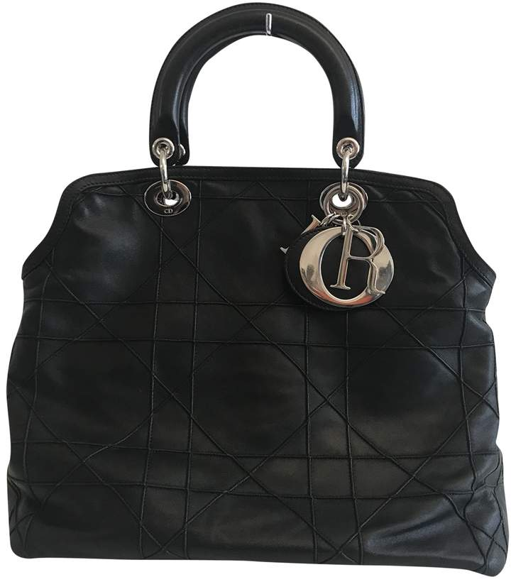 Christian Dior Granville leather tote