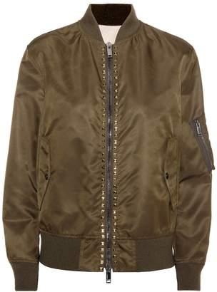 Valentino Rockstud Untitled bomber jacket
