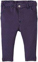 Jo-Jo JoJo Maman Bebe Jersey Jeans (Baby) - Navy/Fuchsia Dot-6-12 Months