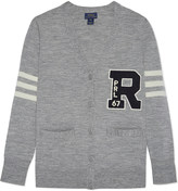 Ralph Lauren Varsity logo cardigan 6-14 years