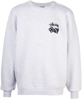 Stussy logo embroidered sweatshirt