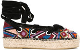 Ash beaded lace-up espadrilles